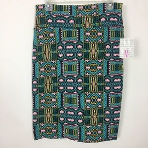 LuLaRoe Cassie Pencil Skirt Aztec Print
